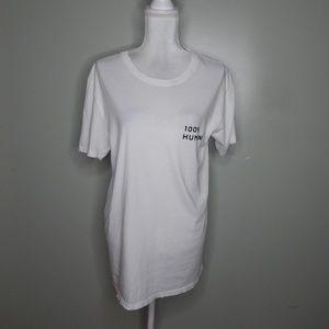 everlane women white T-Shirt SZ L
